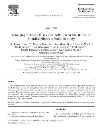 Managing nutrient fluxes and pollution in the Baltic ... - GRID-Arendal
