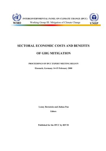 sectoral economic costs and benefits of ghg mitigation - IPCC