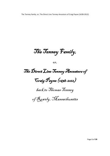 The Tenney Family,
