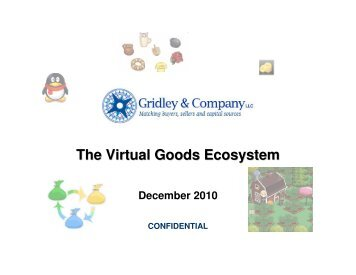 The Virtual Goods Ecosystem - Gridley & Company
