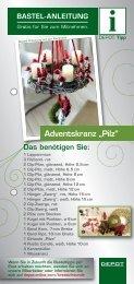 "Adventskranz ""Pilz"" Das benötigen Sie - Gries Deco Company"