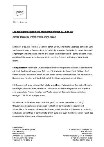 ipuro season line 2013 - Gries Deco Company