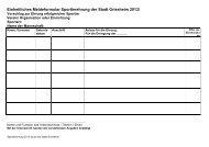 Formular für Vorschlag zur Ehrung erfolgreicher ... - Stadt Griesheim