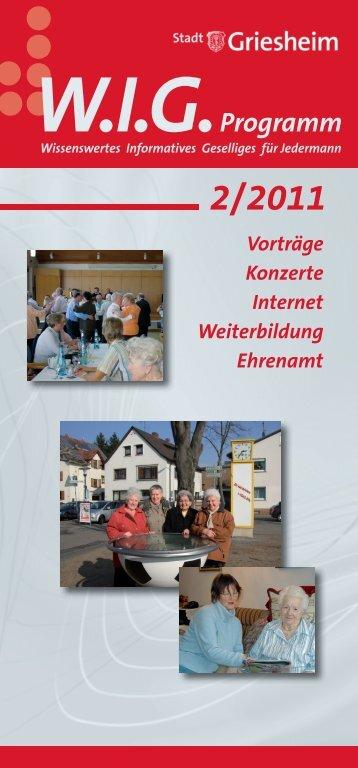 WIG-Program 2.halbj 2011 - Stadt Griesheim