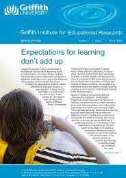 Expectations for learning don't add up - Griffith University