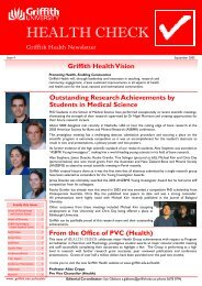 Health Check Issue 4 2005 ( PDF 255k) - Griffith University