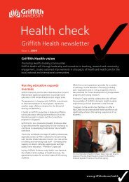 Health Check Issue 17 2008 ( PDF 335k) - Griffith University