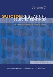 Suicide Research: Selected readings. Volume 7 - Griffith University