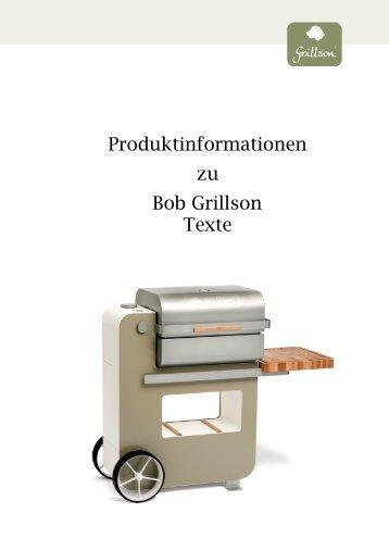 Produktinformationen Bob Grillson_Texte - Grillshop.at