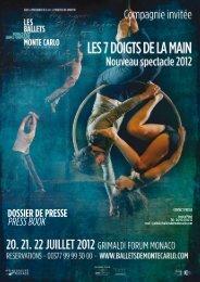 DOSSIER DE PRESSE PRESS BOOK - Grimaldi Forum
