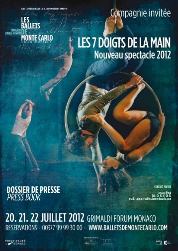 DOSSIER DE PRESSE PRESS BOOK - Grimaldi Forum