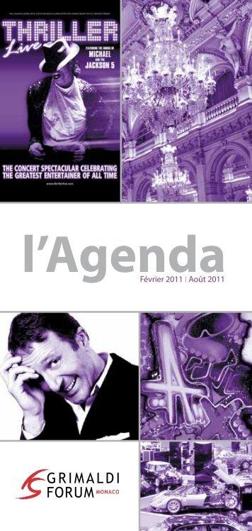 l'Agenda - Grimaldi Forum