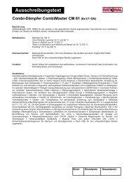 Ausschreibungstext - Grimm-Gastrobedarf