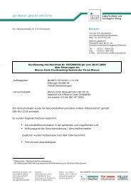 Kurzfassung des Berichtes Nr. 056209030/pk vom 20.07 ... - BLANCO