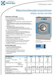 Waschschleudermaschinen - Electrolux Laundry Systems