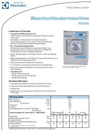 Waschschleudermaschine - Electrolux Laundry Systems