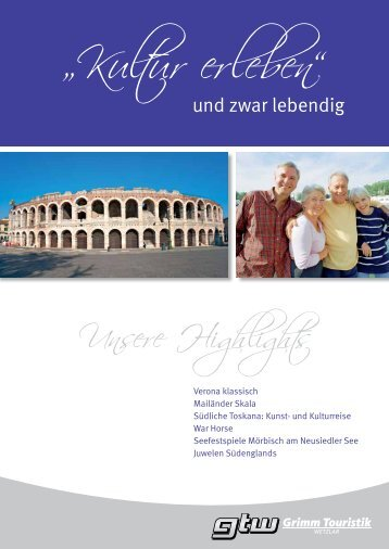 Unsere Highlights - Grimm Touristik