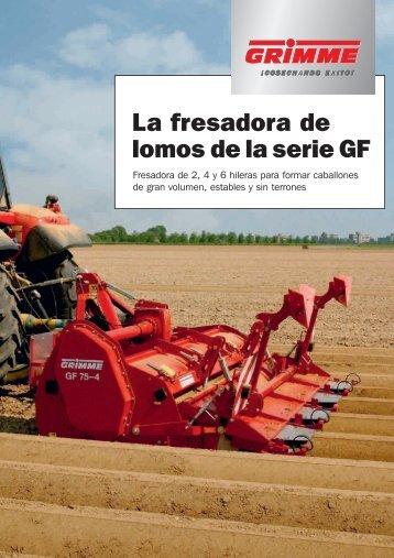 La fresadora de lomos de la serie GF