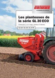 Les planteuses de la série GL 30 ECO