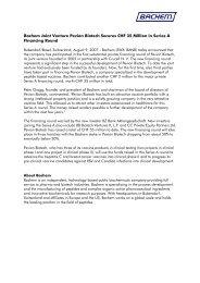 Press Release - Bachem