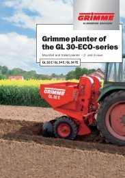 Grimme planter of the GL 30-ECO-series