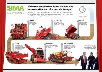 Grimme Innovation Tour : visitez nos nouveautés en très peu de temps