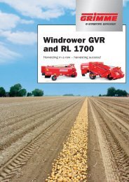 Windrower GVR and RL 1700