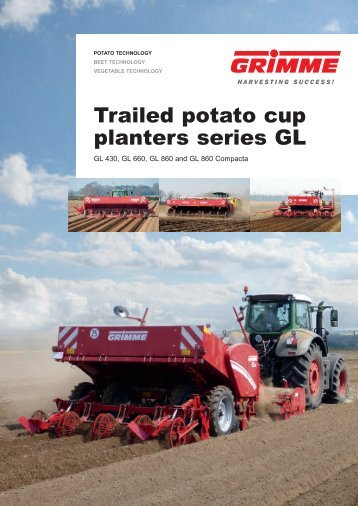 Trailed potato cup planters series GL