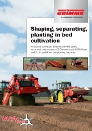 Shaping, separating, planting in bed cultivation