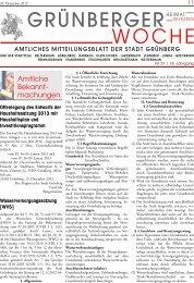Grünberger Woche vom 20. Dezember 2012 - der Stadt Grünberg