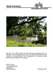 Umweltbericht 2010 - der Stadt Grünberg