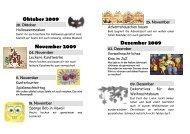 Oktober 2009 November 2009 Dezember 2009