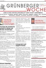 Grünberger Woche vom 19. Juli 2012 - der Stadt Grünberg