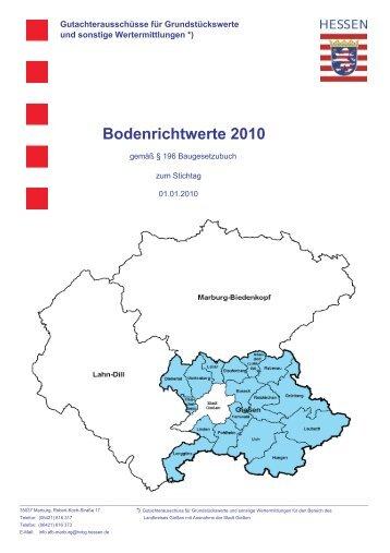 Bodenrichtwerte 2010 - der Stadt Grünberg