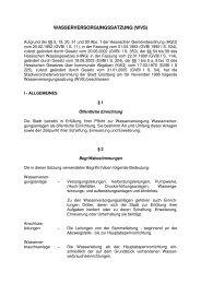 22 WASSERVERSORGUNGSSATZUNG - Grünberg