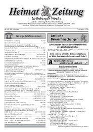 Amtliche Bekanntmachungen Amtliche ... - Grünberg