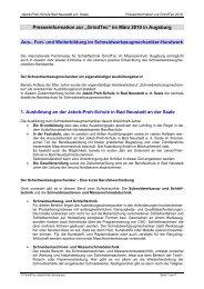 Presseinformation: März 2002 - GrindTec