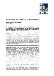 Schlussbericht: GrindTec 2012