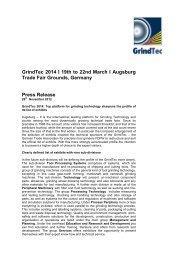 Top platform for grinding technology sharpens the profile ... - GrindTec
