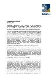Presseinformation - GrindTec