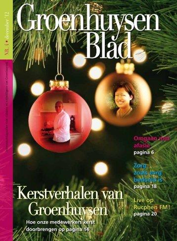 Het Groenhuysen Blad december 2012 - Stichting Groenhuysen