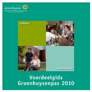 Voordeelgids Groenhuysenpas 2010 - Stichting Groenhuysen