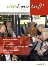 Editie oktober, november en december 2011 - Stichting Groenhuysen