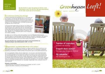Editie juli, augustus, september 2012 - Stichting Groenhuysen