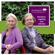 Download de brochure 'Klachtenregeling voor Cliënten' - Stichting ...
