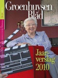 Jaarverslag 2010 - Stichting Groenhuysen
