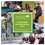 Voordeelgids Groenhuysenpas 2013 - Stichting Groenhuysen