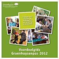 Voordeelgids Groenhuysenpas 2012 - Stichting Groenhuysen