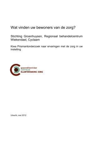 Cliëntwaarderingsonderzoek afdeling Cyclaam - Stichting ...