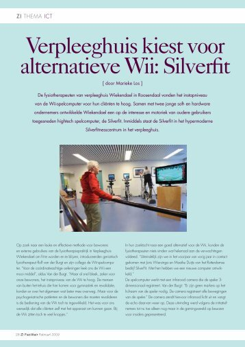 Verpleeghuis kiest voor alternatieve Wii: Silverfit